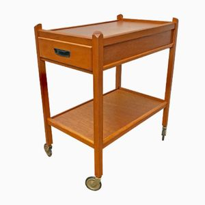 Vintage Drinks Tea Trolley with Drawer