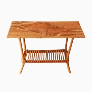 Rattan Magazine Table, 1950s