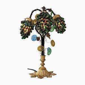 Early 20th Century Italian Murano Glass Grape Table Lamp