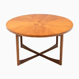 Mid-Century Teak Sunburst Coffee Table from McIntosh, 1960s