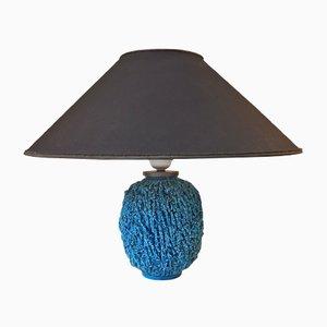 Lampe de Bureau Charlotte en Céramique Turquoise par Gunnar Nylund pour Rorstrand, 1950s