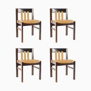 Vintage Stühle mit Lederpolsterung von Martin Visser für 't Spectrum, 4er Set