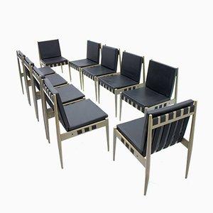 Kunstleder SE 121 Stühle von Egon Eiermann für Wilde & Spieth, 1965, 10er Set
