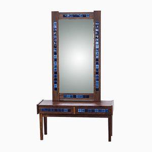 Vintage Spiegel mit Palisanderrahmen & Konsolentisch mit Schubladen