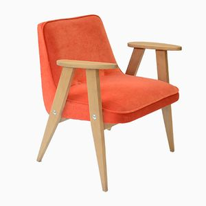Mid-Century Orange 366 Armchair by Jozef Marian Chierowski