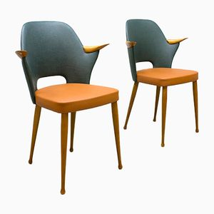 Vintage Dutch Dining Chairs from Stevens, Set of 2