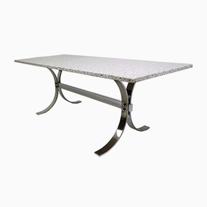 Vintage Granite & Chrome Coffee Table