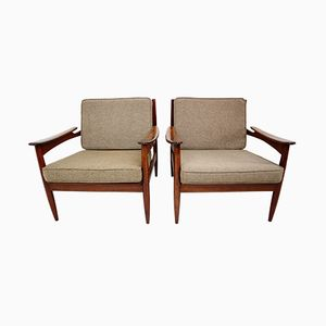 Mid-Century Danish Rosewood Armchairs from Lifa, Set of 2