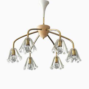 Mid-Century Modern Brass Ceiling Lamp by Emil Stejnar for Rupert Nikoll