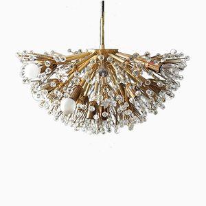 Mid-Century Modern Starburst Brass Ceiling Lamp by Emil Stejnar for Rupert Nikoll
