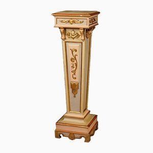 Italian Golden Lacquered Column, 1920s