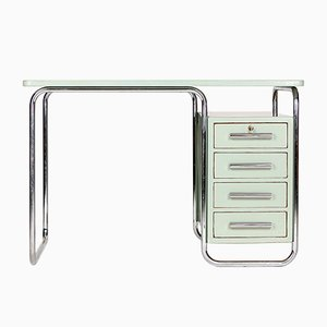 Tubular Steel Desk from Vichy & Co., 1930s