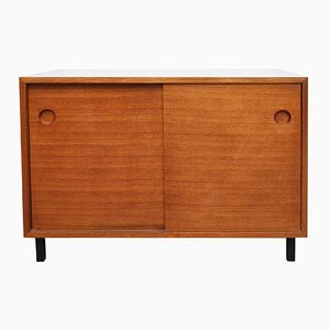 Teak Veneer & Resopal Sideboard with Sliding Doors, 1960s