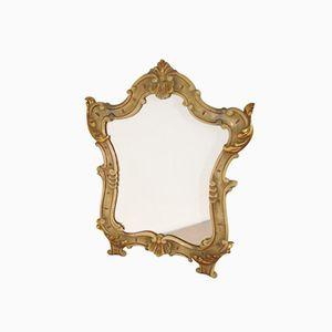 Vintage Italian Mirror in Wooden Frame from L. Pistone