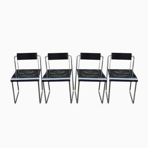 Vintage Bauhaus Folding Chairs, Set of 4