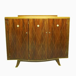 Vintage Art Deco Mahogany Cabinet from Albert Fournier