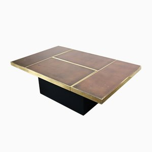Vintage Coffee Table with Hidden Bar by Willy Rizzo