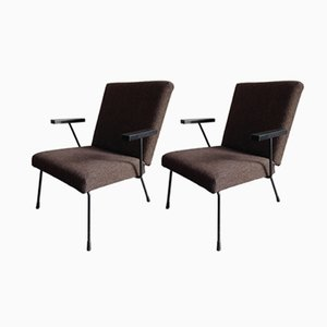 1407 Easy Chairs by Wim Rietveld for Gispen, 1950s, Set of 2