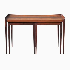 Mid-Century Danish Rosewood Nesting Tables by Kurt Ostervig for Jason Mobler