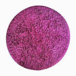 Tapis Circulaire Violet, 1970s