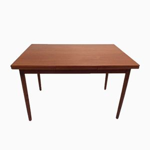 Danish Teak Extending Dining Table, 1960s