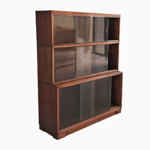 3-Tier Bookcase with Sliding Glass Doors from Minty, 1960s