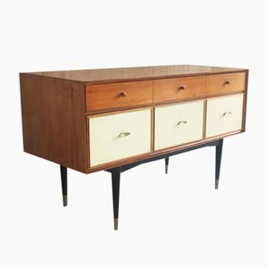 Chest of Drawers with Brass Trim, 1960s