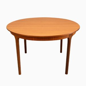 Mid-Century Teak Circular Extendable Dining Table from McIntosh