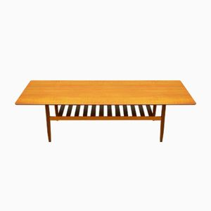 Mid-Century Long Teak Danish Coffee Table by Richard Hornby