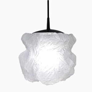 Mid-Century Ice Glass Pendant Lamp