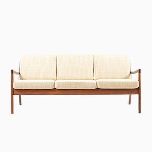 Senator 3-Seater Sofa in Rosewood by Ole Wanscher for France & Søn, 1960s