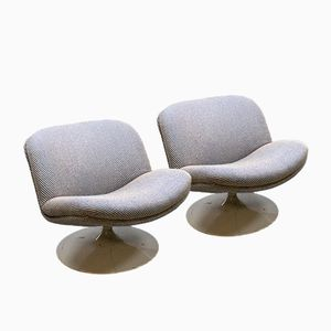 Vintage F504 Swivel Lounge Chairs & Coffee Table by Geoffrey Harcourt for Artifort, Set of 3