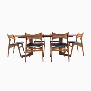Model 310 Dining Set in Teak by Erik Buck for Chr. Christiansen, 1960s