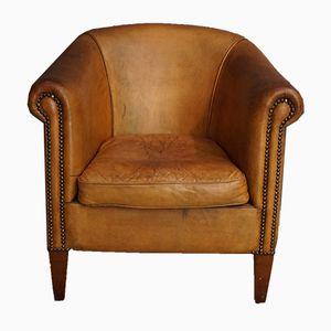 Cognacfarbener Vintage Ledersessel