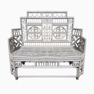 Dekorative Mid-Century Sitzbank aus Holz