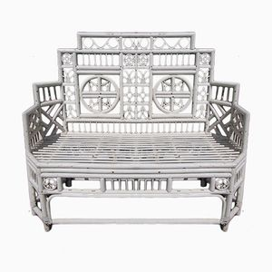 Mid-Century Decorative Wooden Bench