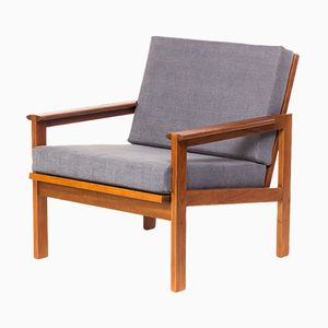 Mid-Century Danish Capella Chair in Teak by Illum Wikkelso for N. Eilersen