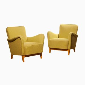 Lounge Chairs by Carl Malmsten for Dux, 1940s, Set of 2