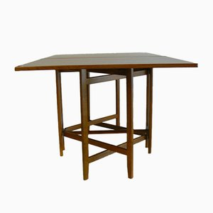 Vintage Folding Teak Dining Table by Bendt Winge for Kleppe Møbelfabrikk