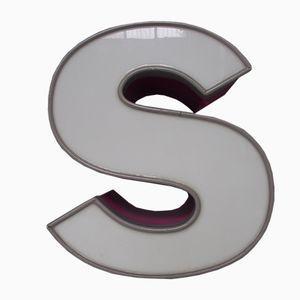 Panneau LED Vintage Lettre S