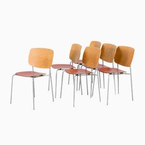 Skandinavische Moderne Stühle von Jonas Lindvall für Skandiform, 6er Set