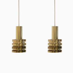 Brass Pendants in Brass from Hans Agne Jakobsson, 1970s, Set of 2