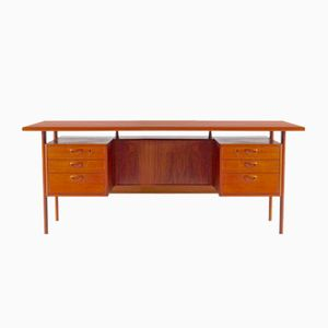 Danish Executive Teak Desk by Kai Kristiansen for Feldballes Møbelfabrik, 1960s