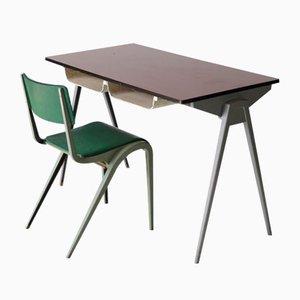 Schreibtisch & Stuhl von James Leonard für ESA, 1950er
