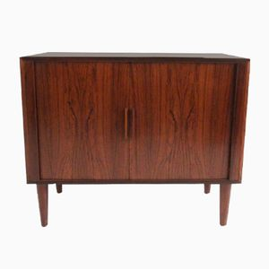 Small Mid-Century Rosewood Sideboard with Tambour Doors