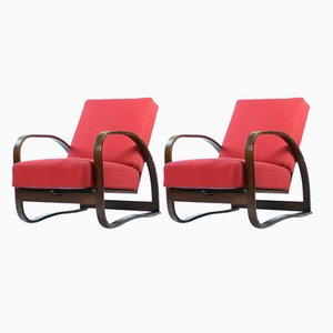 H70 Armchairs by Jindřich Halabala for UP Zavody, 1930s, Set of 2