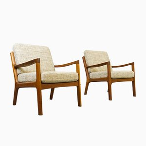 Senator Teak Armchairs by Ole Wanscher for France & Søn, 1960s, Set of 2