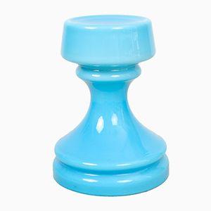 Blaue Glas Tischlampe, 1960er
