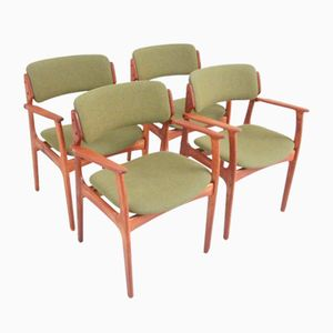 Mid-Century Teak Dining Chairs by Erik Buch for Oddense Maskinsnedkeri, Set of 4
