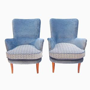 Lounge Chairs by Carl Malmsten, Set of 2